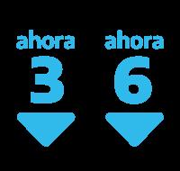 3 y 6 cuotas